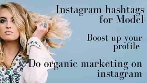 Instagram hashtags for models