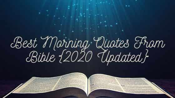 MORNING QUOTES BIBLE