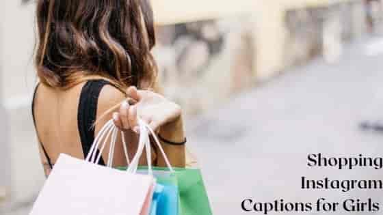 Shopping Instagram Captions for Girls