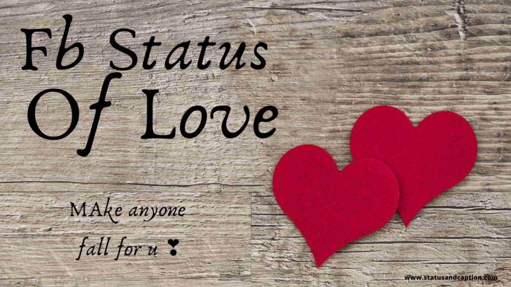 Fb Status of Love
