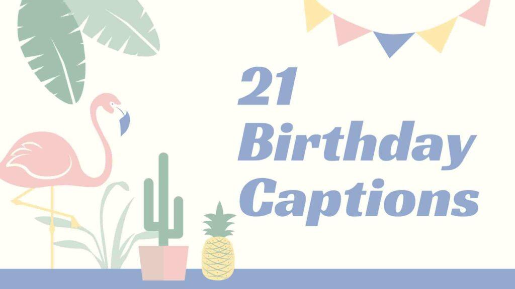 21 Birthday Captions funny