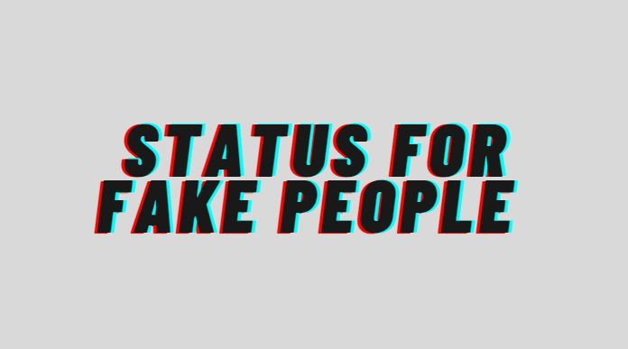 status for fake people