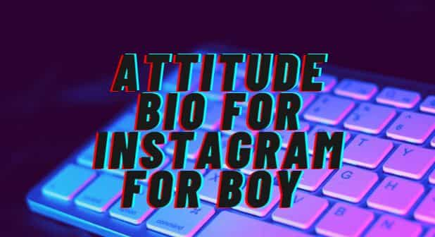 Bio for Instagram for Boy Attitude