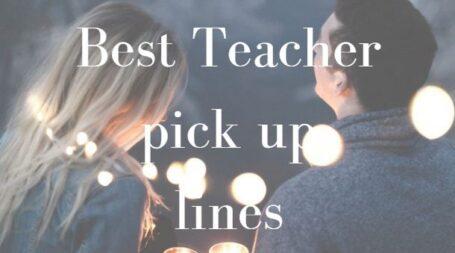 teachers pick up lines