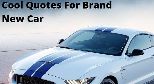 Cool Quotes For Brand New Car