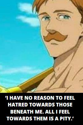 Escanor quotes and captions
